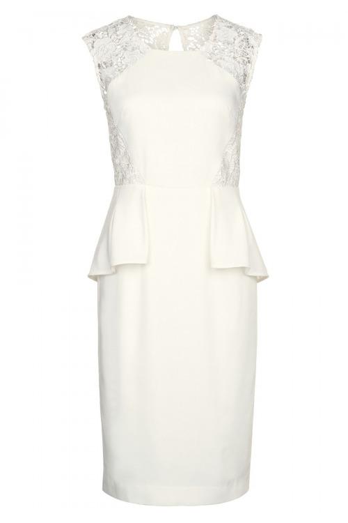Svatební šaty, pouzdrové svatební šaty APART s krajkou (vel.34 skladem)