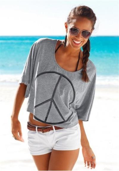 Značkové pohodlné plážové triko, VENICE BEACH (vel.32/34 skladem)