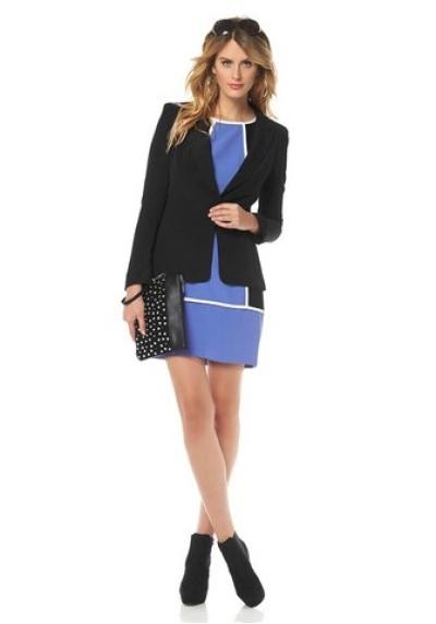 Černý blejzr přes šaty, značkové dámské sako JESSICA SIMPSON (vel.M skladem)
