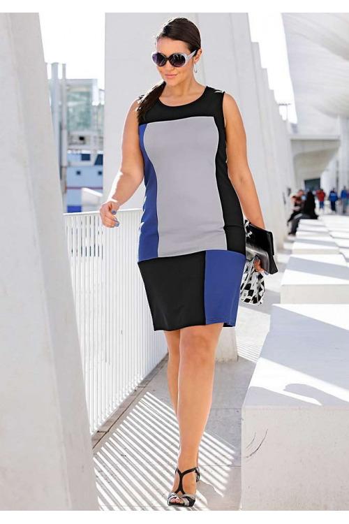 Pouzdrové šaty také pro plnoštíhlé, šaty větší velikosti SHEEGO (vel.46 skladem)
