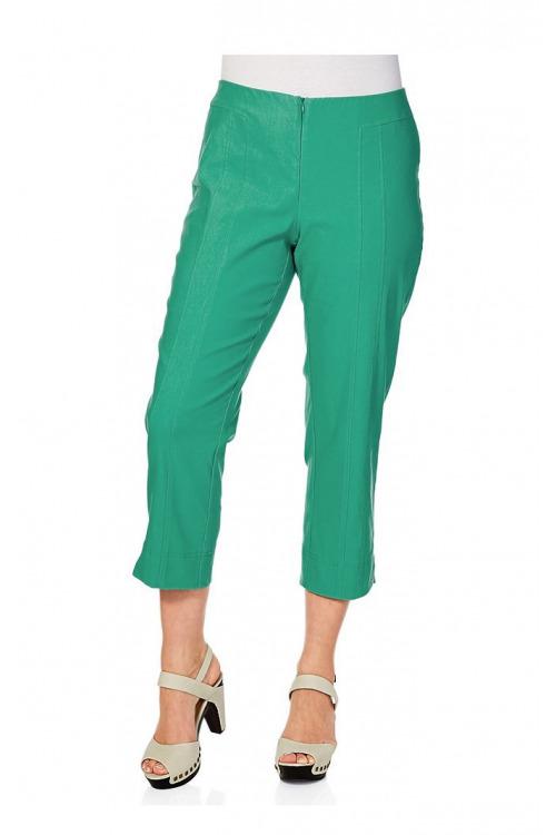 Elastické pohodlné letní 7/8 kalhoty pro plnoštíhlé, SHEEGO (vel.58 skladem)