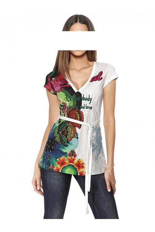 Značkové triko DESIGUAL, móda DESIGUAL slevy (vel.XL skladem)