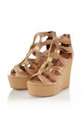 Luxusní kožené klínové sandálky JEFFREY CAMPBELL, sandály na klínku (vel.38,39 skladem)