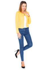 Dámské sako, žluté sako KATRUS na zip