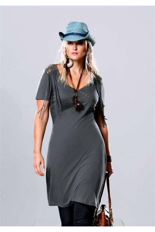 Šaty s třásněmi, šaty nadměrné velikosti, Your Life Your Fashion (vel.56 skladem)