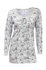 Romantické triko s krajkou HEINE (vel.38 skladem)