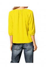 Žlutá letní šifonová halenka Rick Cardona