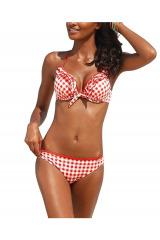 Dvoudílné plavky s vichy kostičkou, plavky levně (vel.36B skladem)