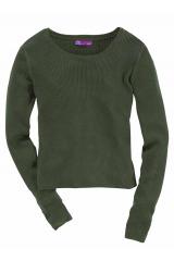 AJC olivový krátký dívčí svetr na halenku (vel.32/34 skladem)