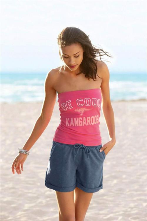 Značkové dámské šortky s topem, komplet KangaROOS (vel.40 skaldem)
