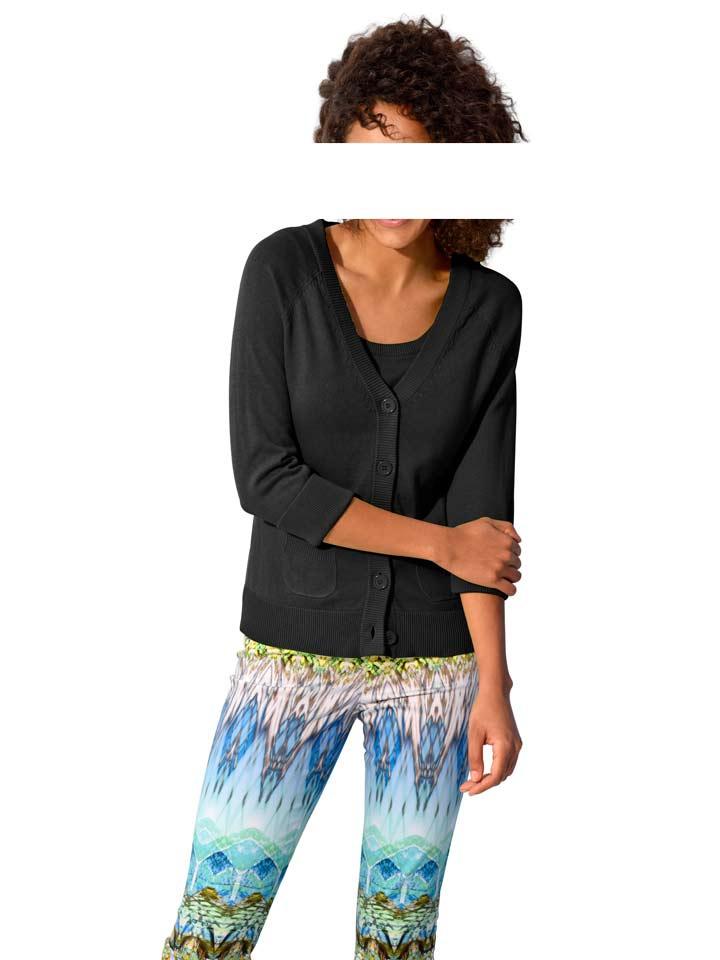 Černý bavlněný twinset HEINE (vel.34,38 skladem)