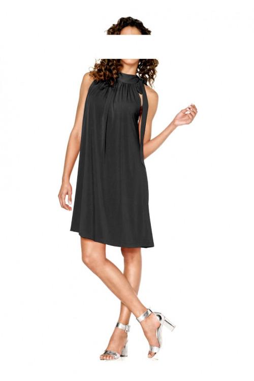 Černé žerzejové šaty HEINE (vel.44 skladem)