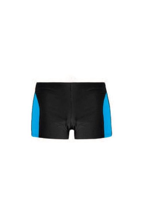 Pánské plavky boxerky David modré - černá (vel.XXL skladem)