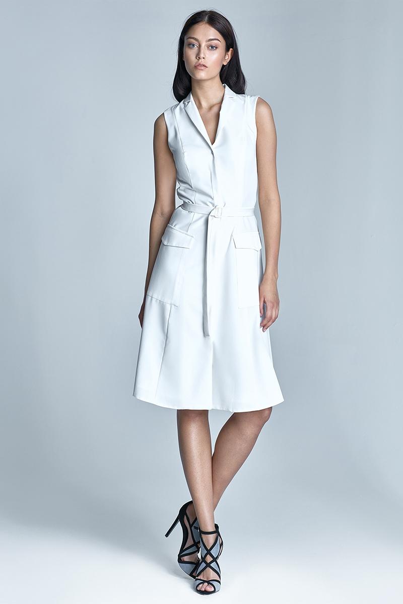 Šaty NIFE, propínací šaty s kapsami (vel.38 skladem)