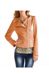 Kožené dámské sako, semišové sako z velurové kůže RICK CARDONA