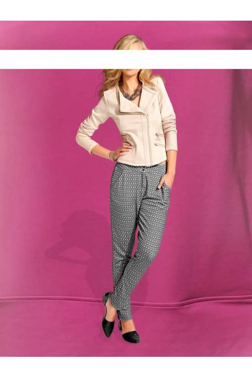Mrkvové kalhoty s potiskem, dámské mrkváče HEINE (vel.36,38 skladem)