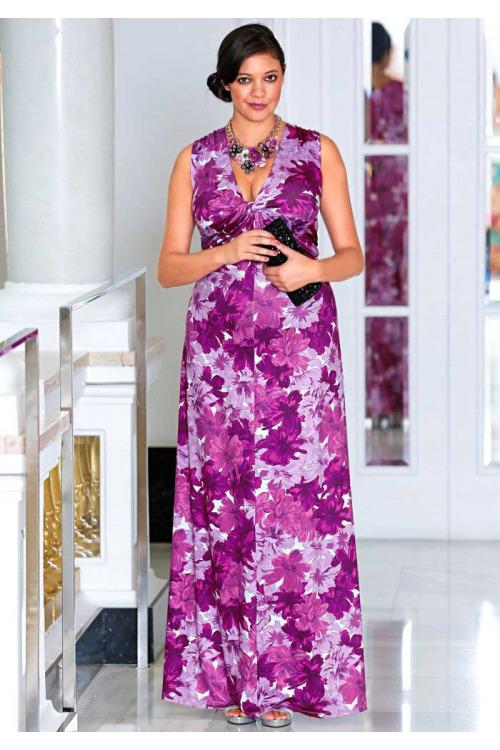 e6ca60607c3 Dámské dlouhé večerní šaty SHEEGO (vel.44