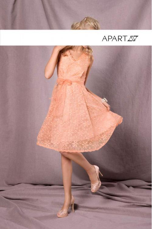 Vyšívané šaty z organzy APART, luxusní krajkové šaty (vel.38 skladem)