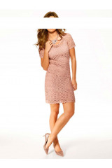 Romantický look, háčkované šaty Ashley Brooke (vel.36 skladem)