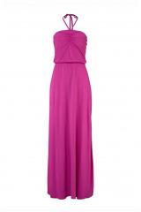 Maxišaty,  dlouhé letní šaty za krk AJC, móda pro mladé (vel.32 skladem)