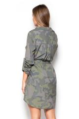 Dlouhá dámská halenka, dlouhá košile KATRUS (vel.S/M tj.36/38 skladem)