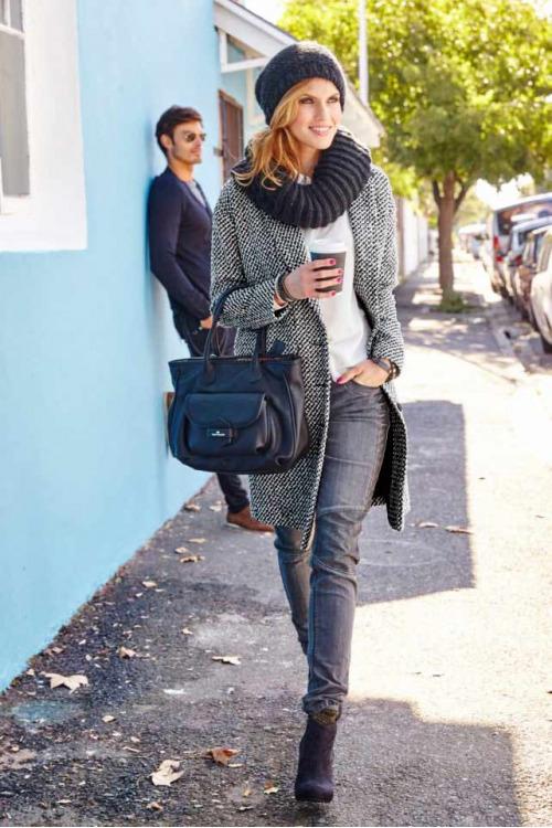 Kabát buklé, dámský kabát buklé Aniston (vel.40 skladem)
