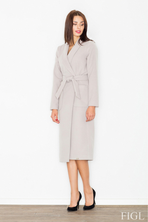 Dlouhý kabát FIGL, delší zimní dámský kabát