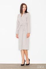 Dlouhý kabát FIGL, delší zimní dámský kabát (vel.S/36 skladem)