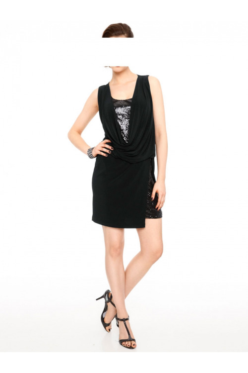Šaty na párty, šaty zdobené flitry Ashley Brooke event, šaty na večírek (vel.38 skladem)