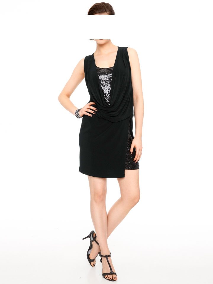 Šaty na párty, šaty zdobené flitry Ashley Brooke event, šaty na večírek