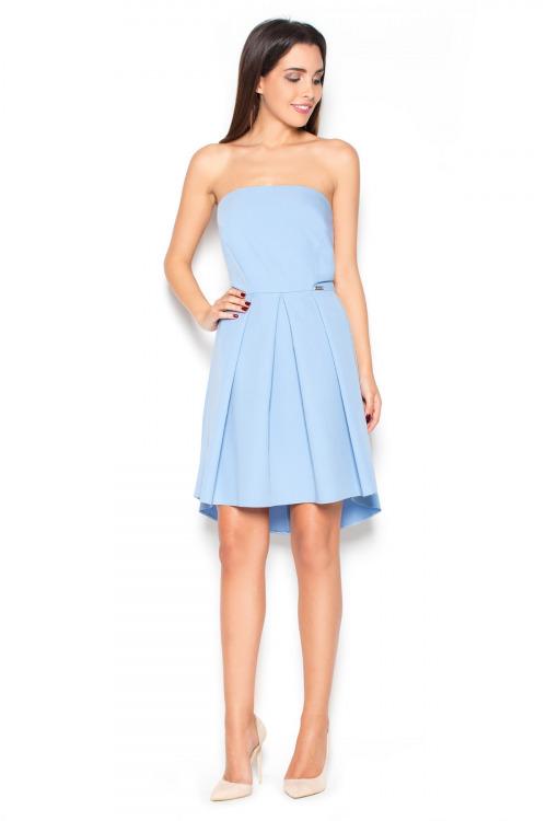 Šaty KATRUS, korzetové šaty s asymetrickou sukní (vel.L/40 skladem)