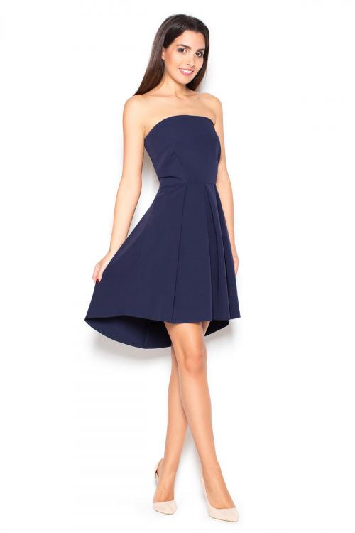 Šaty KATRUS, korzetové šaty s asymetrickou sukní