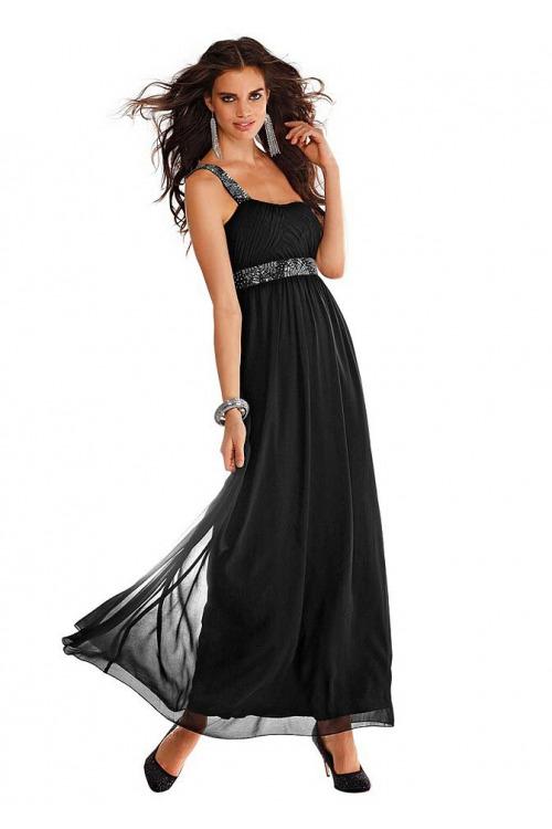 2da38a8d508b Dlouhé černé večerní šaty SHEEGO