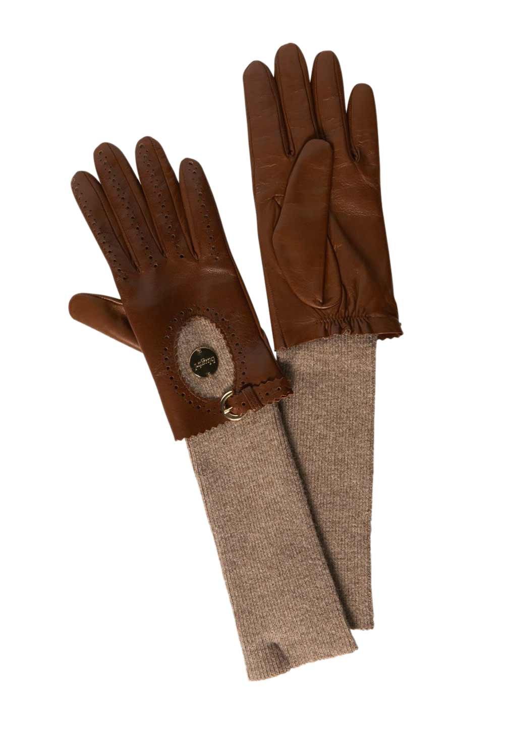 Skladem Kožené značkové dámské rukavice Blugirl (vel.M skladem) 0379e3f3d7