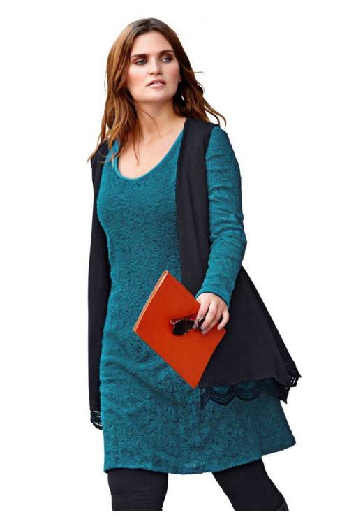Nadměrné velikosti dámské, krajkové šaty pro plnoštíhlé SHEEGO (vel.50 skladem)
