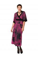 Šaty pro plnoštíhlé v kimonovém stylu (vel.46,48 skladem)