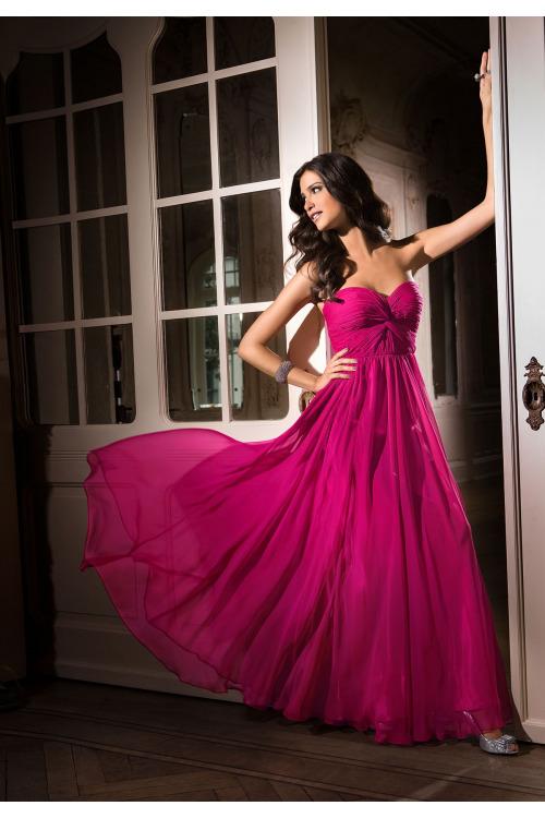 Luxusní šifonové šaty, dlouhé společenské šaty APART (vel. 40 skladem)