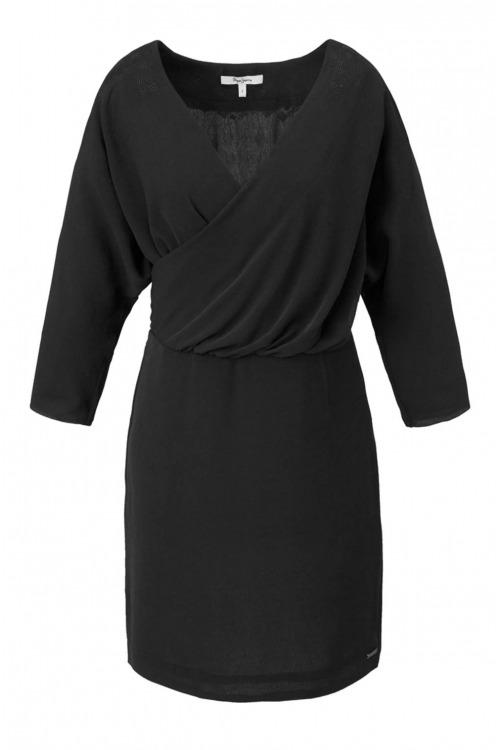 PEPE JEANS, černé šaty (vel.XL skladem)