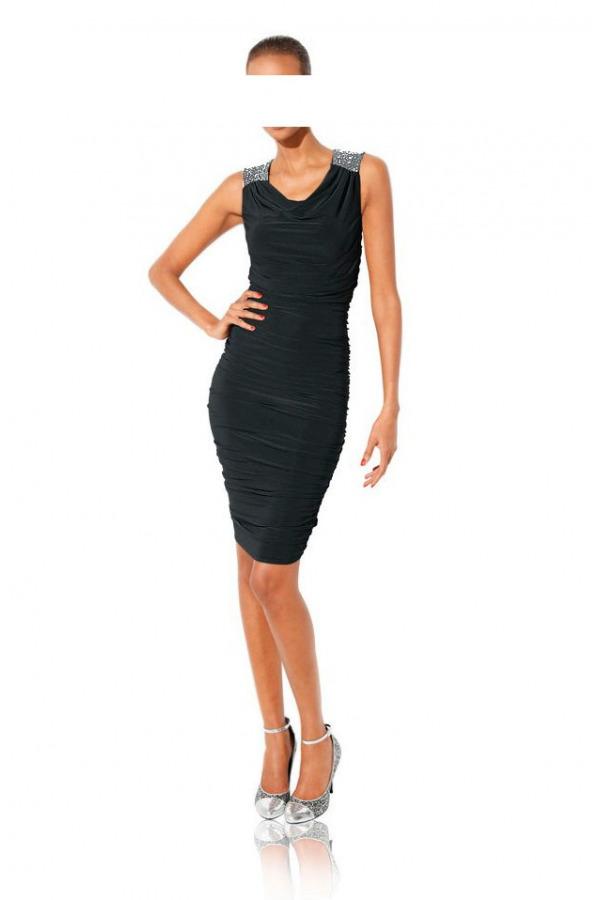 7806acc3e836 Skladem Zeštíhlující černé šaty CLASS INTERNATIONAL