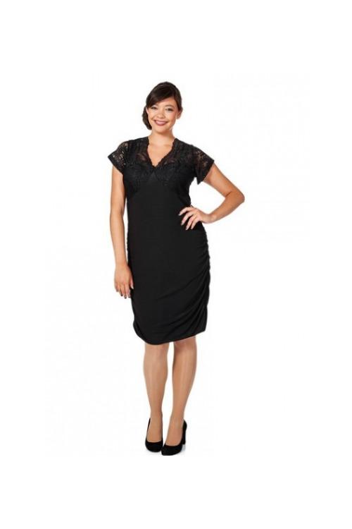 Šaty pro plnoštíhlé, šaty Anna Scholz (vel.58 skladem)