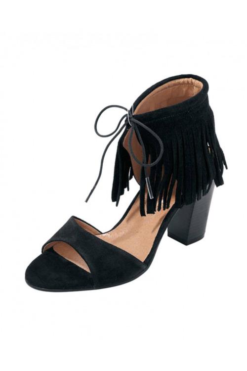 HEINE, černé letní sandálky