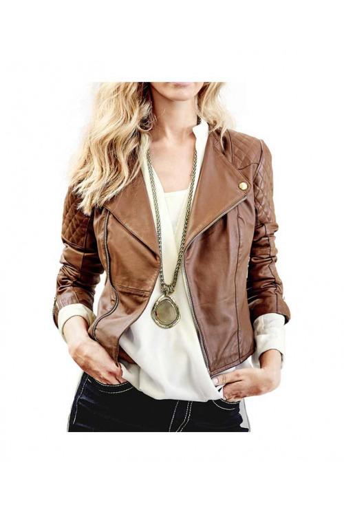 Krásná kožená bunda HEINE (vel.42 skladem)