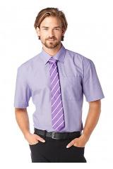 Pánská košile s kravatou, krátký rukáv (vel.XXL,5XL skladem)
