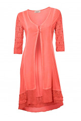 Plášť přes šaty s krajkou, Linea Tesini