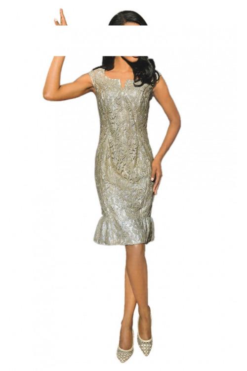 Zlaté krajkové šaty, S. Madan (vel.42 skladem)