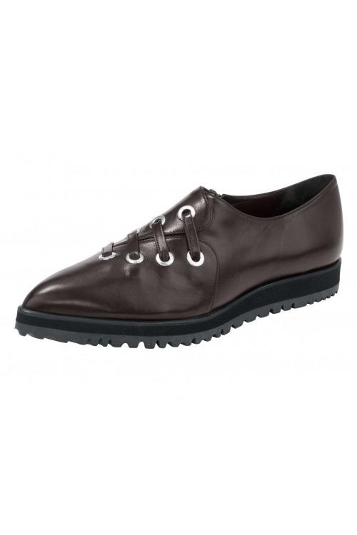 Kožené ručně šité dámské boty, slipper Heine