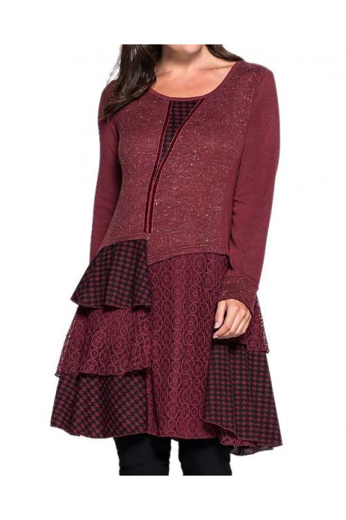 Šaty pro plnoštíhlé levně, pletené šaty Joe Browns (vel.44 skladem)