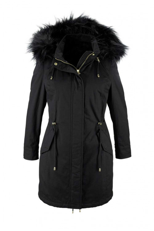 Zimní dámská parka s vestou ze tkané kožešiny, Laura Scott (vel.36 skladem)