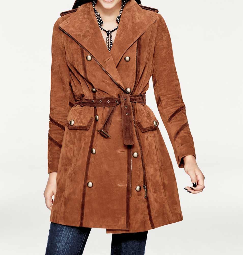 40e8d3182c4 Kožený dámský kabát