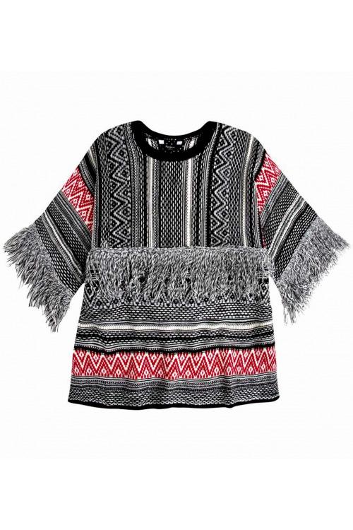 Dámský svetr s třásněmi PEPE JEANS